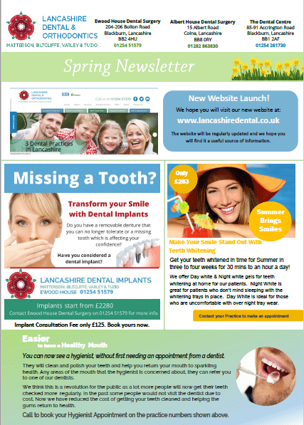 Lancashire Dental Spring Dental Newsletters 2017